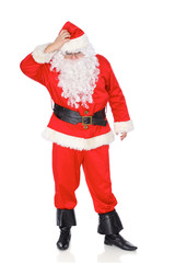 Santa Claus isolated on white background. Full length portrait