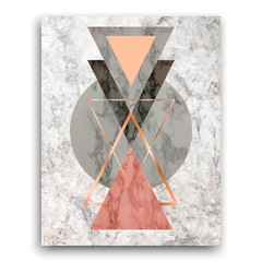 Marble background with triangles. Geometric print for your card, template, business, brochure. Trendy poster for textile, fabric, web, wallpaper, poster, home design, office design