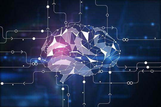 Digital brain background
