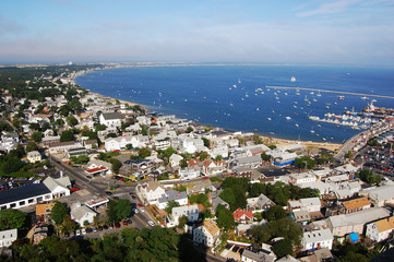 Cape Cod seashore, viewed from Pilgrim Monument, Massachusetts, USA.