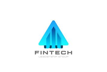 Financial Real Estate Logo vector. Security triangle icon