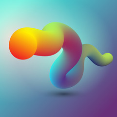 Abstract 3D design of fluid like shape