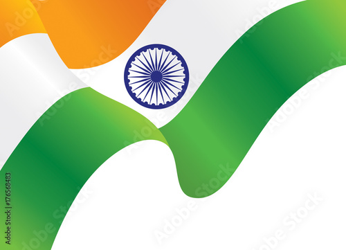 Indian Waving Flag Background Independence Day Wallpaper Vector