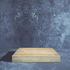 Wooden board, advert concept