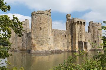 Ancient Bodiam castle in Sussex England UK