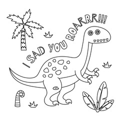 Cute Dinosaur coloring book series.