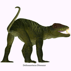 Doliosauriscus Dinosaur Tail - Doliosauriscus is an extinct genus of therapsid carnivorous dinosaur that lived in Russia in the Permian Period.