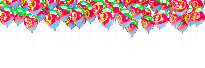 Balloons frame with flag of eritrea