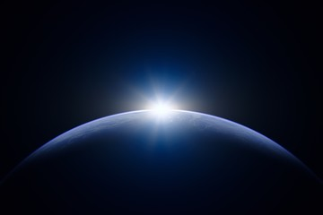 Acrylic Prints Universe 地球と太陽