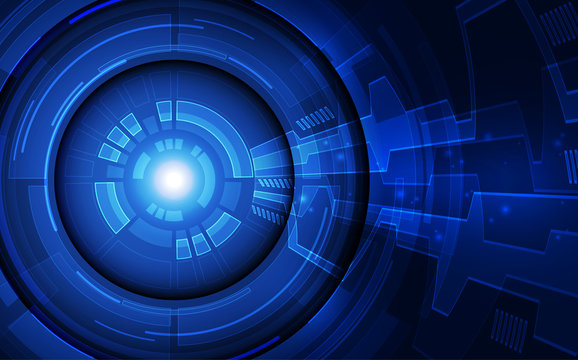 Vector eye cyber security technology in the future concept. background illustration