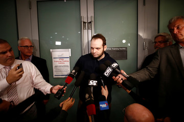 Boyle speaks to the media after arriving at Toronto Pearson International Airport, nearly 5 years after he and his wife were abducted in Afghanistan in 2012, in Toronto