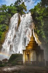 Front of Dat Taw Anisakan falls, waterfall at Pyin Oo Lwin,Mandalay state Myanmar