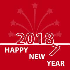 Happy new year 2018 creative design