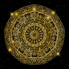 Vintage decorative elements. Ornamental floral. Oriental pattern, vector illustration. Islam, Arabic Indian turkish motifs
