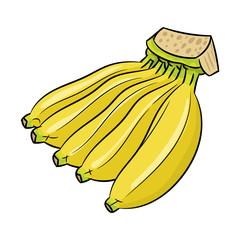 Isolated Banana cartoon -Vector Illustration