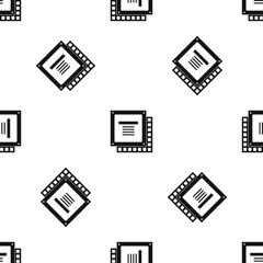 Computer CPU processor chip pattern seamless black