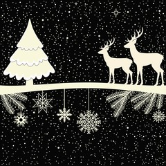 Christmas greeting card. Winter poster.