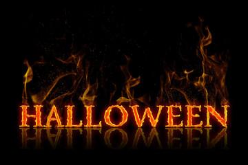 Halloween lettering english german