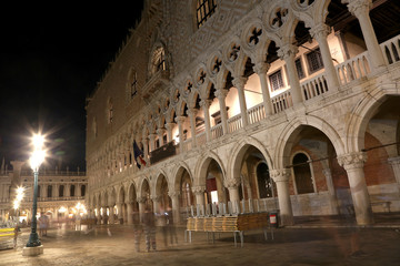 The Doges building also called Ducal Palce  in Venice Italy
