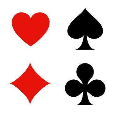 playing card flat icon for apps and websites - icône jeux de cartes pour sites web et applicaitons