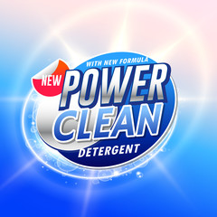 creative laundry detergent product pacgaging concept design vector