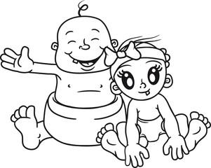 2 girls freundin paar pärchen liebe verliebt mädchen hübsch schön umarmen begrüßen glücklich dick fett sitzend klein süß niedlich windel kind baby comic cartoon