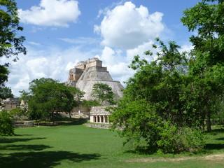 Pyramid of the Mayan in Uxmal in Yucatan, Mexico 3