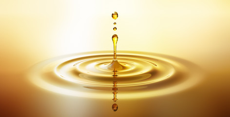 Tropfen aus goldenem Öl 2