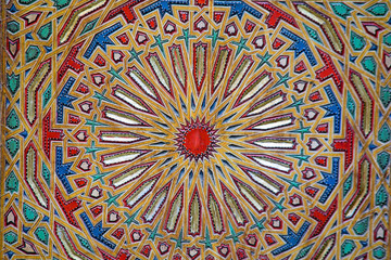 Ancient colored wood pattern, contemporary moroccan style