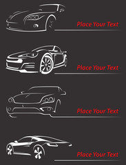 Car Rent Abstract Lines Vector. Set-3. Vector illustration