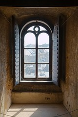 Old window in a tower
