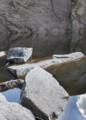 Granite Blocks in an Adirondack Mountain Lake