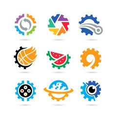 Set of Gear Logo Vector - Industrial Logo