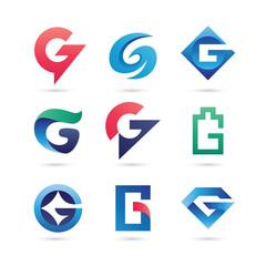 Set of Letter G Logo Vector - Colorful Modern Logo