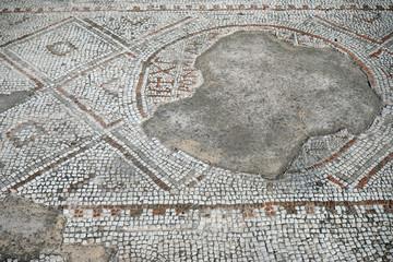 Mosaic on the floor