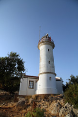 Gelidonya lighthouse on Lycian way in Karaoz, Antalya, Turkey