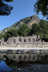 Olympos ancient city in Kumluca,Antalya, Turkey