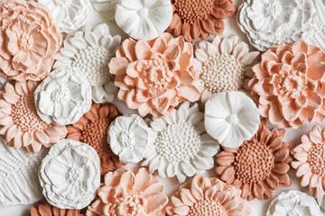 Ceramic flowers background