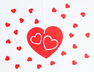 Red heart card note