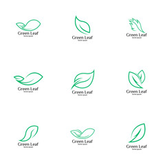 Leaf logo vector art
