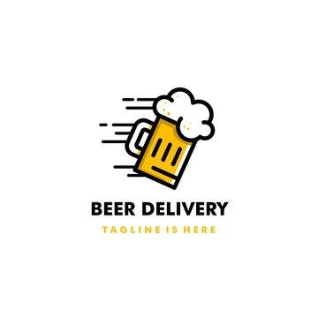 Beer Delivery Logo Icon Design