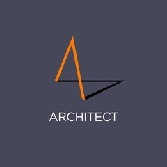 A Monogram. Architect logo or Building.