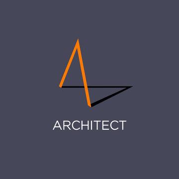 A Monogram. Architect logo or Building.