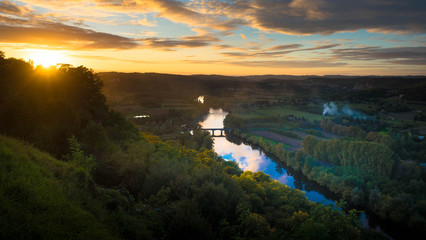 Sonnenuntergang an der Dordogne