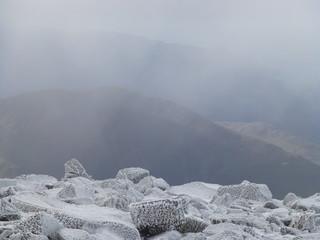 Ben Nevis is Scotland's highest mountain in the snow