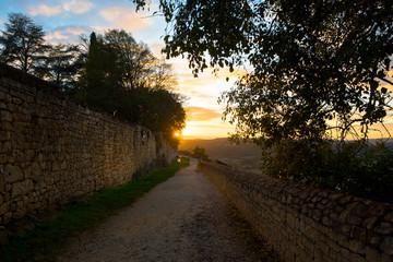 Sonnenuntergang in Domme, Dordogne