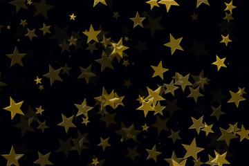 Estrellas doradas sobre fondo negro.