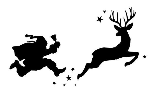 Weihnachtsmann und Hirsch