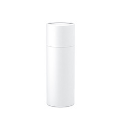 White paper tube tin can Mockup, 3d rendering