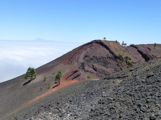 Colorful peak of the volcano San Martin on the island of La Palma, one of the Canary Islands 5